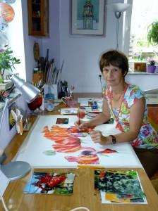 Doris im Atelier
