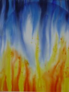 Feuer und Wasser, 2011  60 x 80cm Vk