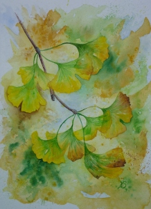 Gingko  - 2016 Aquarell